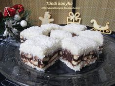 Tündi konyha: Kókuszos-kekszes kocka New Recipes, Cake Recipes, Dessert Recipes, Cooking Recipes, Morning Glory Muffins, Donut Muffins, Muffins Blueberry, Nutella Muffin, Coconut Biscuits