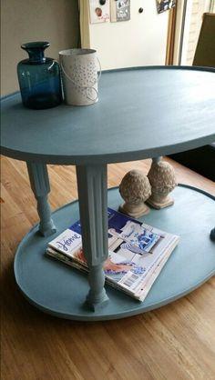 Antiek tafeltje in vintage blue van kwantum