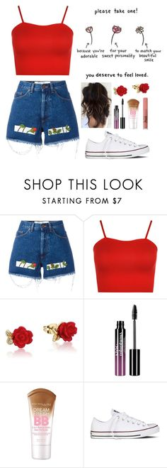 """""""Please Take All"""" by ac-4am on Polyvore featuring Off-White, WearAll, Disney, Charlotte Russe, Maybelline and Converse"""