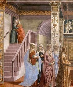 D. Ghirlandaio: Ludovica Tornabuoni and her damsels
