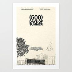 (500) Days of Summer Art Print by Martin Lucas - $17.00