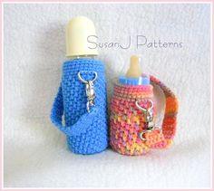 Baby Bottle Cover Pattern | Baby Bottle Cozy - ... by SusanJ Patterns | Crocheting Pattern