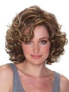 The Malibu Wig by BelleTress has  loose curls that hold up for a short breezy style remind us of a time when we had a to hair spray it up that way. A very full, short cut which looks great with summer dresses or shorty shorts.