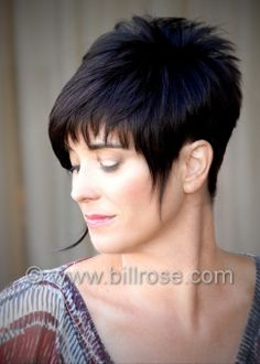 long wispy asymmetric style. Kool Cut