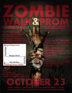 Zombie Walk & Prom 2010 Flyer