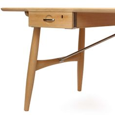 For Sale on - A superbly designed and exquisitely crafted desk having a solid wood top over two floating drawers (right drawer with lock), on turned legs with satin Desk Legs, Table Legs, Floating Drawer, Stainless Steel Rod, Round Chair, Modern Desk, Writing Desk, Desk Organization, Table Furniture