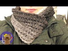 Virkning: tubhalsduk i nytt garn från Woolly Hugs Cloud Crochet Loop, Diy Crochet Top, Crochet Mens Scarf, Crochet Baby Beanie, Crochet Toddler, Chunky Crochet, Crochet Scarves, Crochet Hats, Crochet Scarf For Beginners