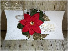 A La Cards - SU - XL Pillow Box featuring the Festive Flower Builder Punch and Reason for the Season stamp set - Christmas gift / treat box
