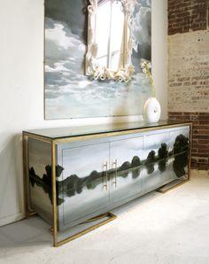 Prachtig: schilderij en kast in 1, handgeschilderd door Tamara Codor van Codor Design Studio. Elke kast is custos made!