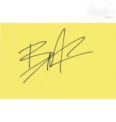Brandon Bruce Lee Autographed index card