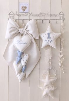 Baby Boy Shower, Baby Shower Gifts, Baby Mobile, Baby Room Decor, Birth, Lily, Fate, Embroidery, Sewing