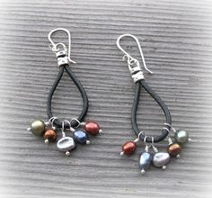 Leather in an earring?  Yes please!  From Fresh Baked Designs