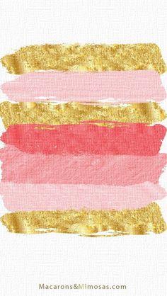 Imagen de gold, wallpaper, and pink