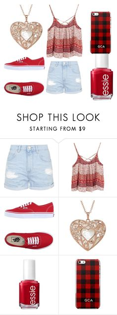 """Untitled #102"" by lolol-gg ❤ liked on Polyvore featuring Topshop, Vans and Essie"