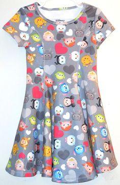 Disney TSUM TSUM Dress NEW sz XS 4-5 Mickey Pooh Tigger Stitch Frozen Minnie #Disney #Everyday