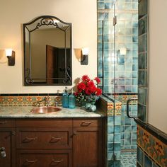 Spanish Bathroom Design Design Ideas, Pictures, Remodel, and Decor