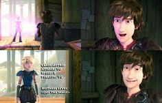 What goes on inside hiccup's mind
