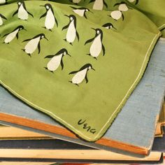 vintage 50s Vera Neumann Happy Penquins Silk Square Scarf - so adorable! I wish I had this scarf!