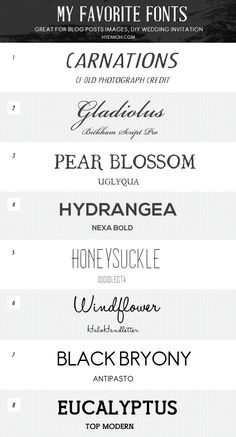 ☆ Favorite Free Fonts