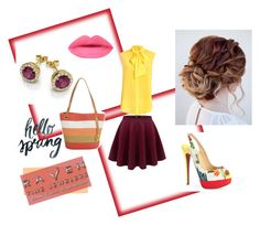 """""""Hello Spring"""" by ravenfinejewelers ❤ liked on Polyvore featuring Moschino, Christian Louboutin and Magid"""