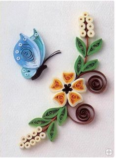 Quilling Flower Designs, Quilling Butterfly, Paper Quilling Flowers, Paper Quilling Cards, Origami And Quilling, Paper Quilling Patterns, Quilling Dolls, Quilling Animals, Quilling Work
