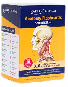 Kaplans Anatomy Flashcards, Second Edition, is the ideal human anatomy study resource, featuring 300 full-color cards, each with a clearly labeled and anatomically precise illustration on one side and