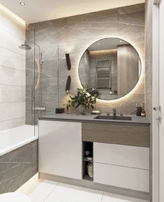 Bathroom Design Luxury, Modern Bathroom Decor, Bathroom Design Small, Minimalist Bathroom Mirrors, Home Room Design, Home Interior Design, Interior Modern, Closet Designs, Beautiful Bathrooms