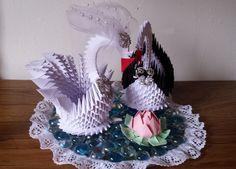 Placa de cisne de boda 2 por 3DOrigamiArtStudio en Etsy