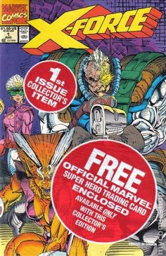 - Written by Rob Liefeld & Fabian Nicieza and Art by Rob Liefeld - Book is in mint condition and is in original poly bag and includes a Cable trading card