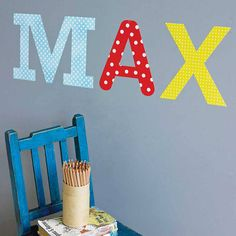 personalised childrens name wall stickers by the binary box | notonthehighstreet.com