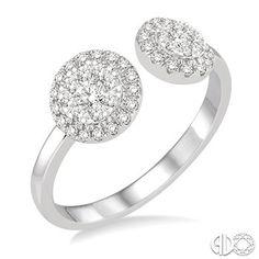 3/8 Ctw Diamond Lovebright Ring in 14K White Gold