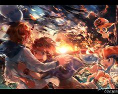 Pokemon by 瑠宇 ( Pokemon Pins, Pokemon Comics, Pokemon Fan Art, Pokemon Games, Cute Pokemon, Pokemon Stuff, All Legendary Pokemon, Pokemon Backgrounds, Pikachu