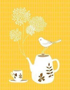 Tea for One | Yumiyumi via Etsy #yellow