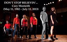 Don't stop believing! Remembering Cory Monteith/Finn Hudson