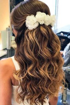 Best wedding hairstyles f - Prom Hair Styles Wedding Hairstyles For Medium Hair, Bride Hairstyles, Down Hairstyles, Easy Hairstyles, Hairstyle Ideas, Hairdos, 1930s Hairstyles, Communion Hairstyles, Hair Medium