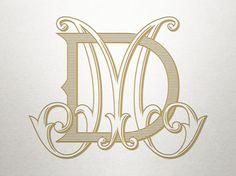 Antique Monogram Alphabet - DM MD - Antique Monogram - Digital