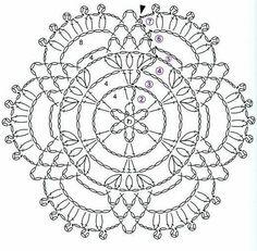 Watch The Video Splendid Crochet a Puff Flower Ideas. Phenomenal Crochet a Puff Flower Ideas. Mandala Au Crochet, Crochet Snowflake Pattern, Crochet Circles, Crochet Motifs, Crochet Snowflakes, Crochet Diagram, Crochet Stitches Patterns, Doily Patterns, Crochet Chart