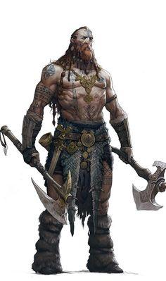 Fantasy Art Warrior, Fantasy Heroes, Fantasy Art Men, Fantasy Rpg, Fantasy Character Design, Character Concept, Character Inspiration, Character Art, Tribal Warrior