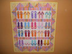 Summer Flip Flops - Applique - Beach Blanket on Etsy, $650.00