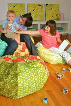 DIY Adult Bean Bag Chair by Joanna Armour: Here is the link for the PDF. http://tinyurl.com/6g9n76d
