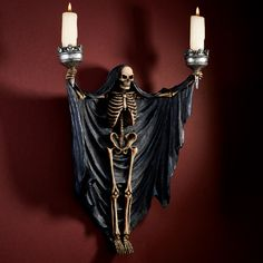 OH want to make a few of these! Made with a Dollar Store skeleton.