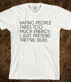 hating people