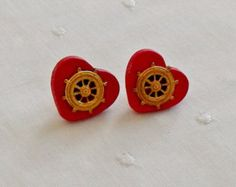 Nautical Earrings by eagerhandsgiftshop. Explore more products on http://eagerhandsgiftshop.etsy.com