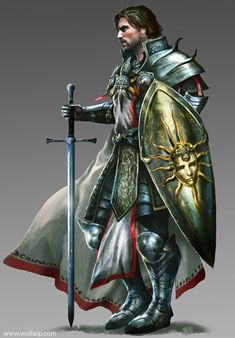 m Paladin Plate Armor Shield Cloak Longsword undercity Urban City Temple Sir Roland by mlappas lg & xlg (saved) Dungeons And Dragons Characters, D&d Dungeons And Dragons, Dnd Characters, Fantasy Characters, Fantasy Male, Fantasy Armor, Medieval Fantasy, Fantasy Character Design, Character Art