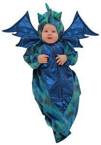 Baby Blue Green Dragon Infant Bunting Halloween Costume 0 6 MO | eBay