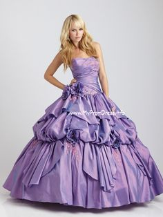 Allure Q334 Quinceanera Dress Ball Gown- Pastel Purple