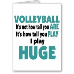 Volleyball Sayings Cards, Invitations,