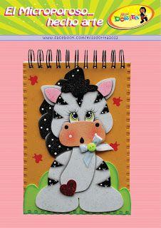 Miss Dorita: Agendas Foam Sheet Crafts, Foam Sheets, Decorate Notebook, Paper Piecing, Mini Albums, Safari, Cute Pictures, Decoupage, Bunny