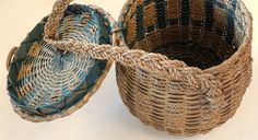 Vintage Penobscot Indian Maine sweetgrass by BlueJugAntiques
