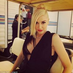 So fresh! Gwen showed off her new dip-dyed locks during a behind-the-scenes snap...